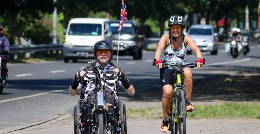 cyclist and handcyclist