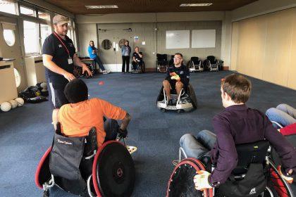 The GB Wheelchair Rugby Team le
