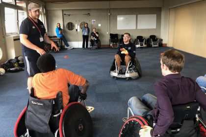 GB Wheelchair Rugby Team lead a sports taster session at Regain Information Day