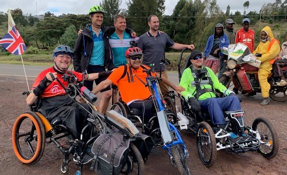 Group of tetraplegics celebrate in Kenya with handcycles